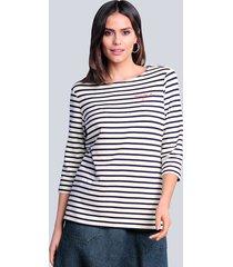 shirt alba moda offwhite::marine
