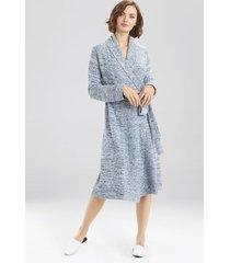 natori serenity cardigan robe, women's, blue, size xl natori