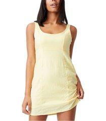 women's woven libby strappy mini dress