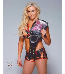 wwe  charlotte flair  diva belt      2.5 x 3.5 fridge magnet