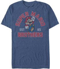 nintendo men's super mario brothers established 1985 short sleeve t-shirt