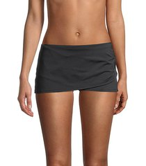 wrap skirted swim shorts