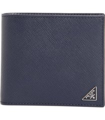 men's prada leather wallet - blue