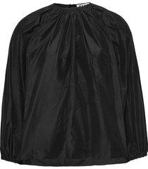 assembly shirt blus långärmad svart hope