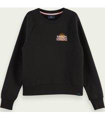 scotch & soda sweater van een katoenmix met logo-artwork