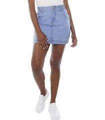 falda elástico botones azul claro  corona