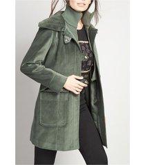 chaqueton terciopelo algodón mujer  verde rock liola
