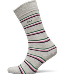 d1. 1 pack multi stripe underwear socks regular socks grå gant