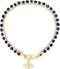 astley clarke 'evil eye biography' bracelet - metallic