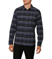 o'neill redmond plaid flannel button-up shirt, size x-large in graphite at nordstrom