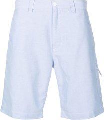 aspesi straight-leg cotton shorts - blue