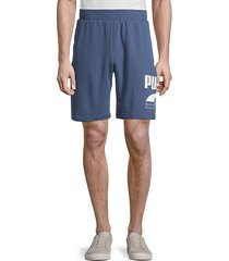 graphic logo cotton-blend shorts