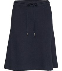 heavy knit skirt, doubleface knälång kjol blå marc o'polo