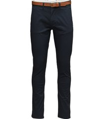 slhslim-yard dark sapphire pants w noos chinos byxor blå selected homme