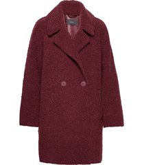 coats woven wollen jas lange jas rood esprit collection