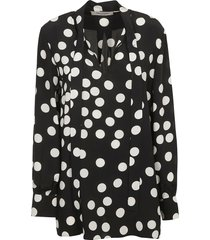valentino polka dot v-neck top