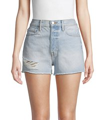 rigid re release distressed denim shorts