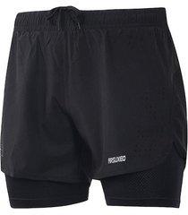 pantaloneta deportiva hombres 2 en 1 - 179