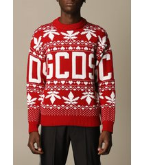 gcds sweater gcds pullover in wool blend with christmas logo