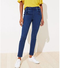 loft sailor skinny jeans in refined mid indigo wash