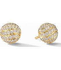 david yurman mini cable 18k gold & diamond stud earrings at nordstrom