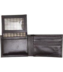 carteira com porta-cartão hendy bag couro café