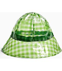 tpu green gingham bucket hat - green