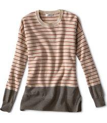 signature merino stripe crewneck sweater