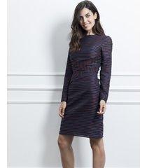 sukienka w paski z zakładkami