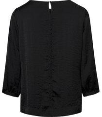 blouse met wijde 3/4-mouwen van peter hahn zwart