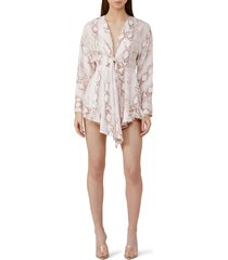 women's significant other reflection tie front romper