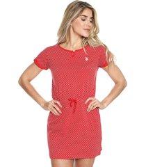 vestido rojo-blanco us polo assn
