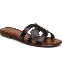 bay shoes summer shoes flat sandals svart sam edelman