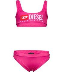 metsj kid beachwear bikini roze diesel
