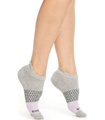 women's bombas colorblock ankle socks, size medium - purple