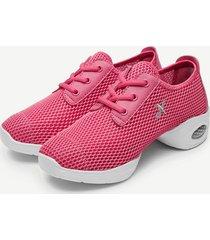 scarpe sportive casual a colori pure imbottite a rete
