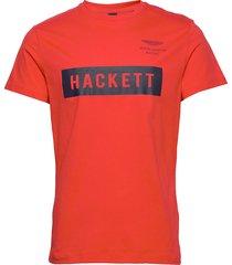 amr hackett tee t-shirts short-sleeved röd hackett