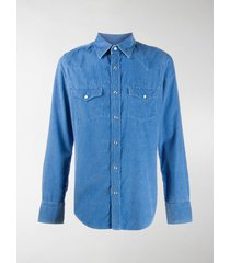 tom ford western cotton denim shirt