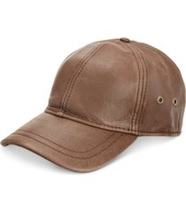 stetson men's leather baseball cap
