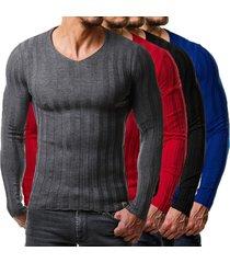 hombre crew cuello delgado fit sweater camisetas tops