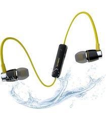 audífonos bluetooth, auricular magnéticos estéreos deportivo -amarillo