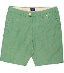 bermuda color siete para hombre - verde