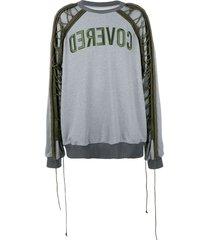 juun.j drawstring sleeve sweatshirt - grey