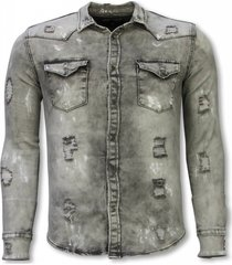 diele & co denim shirt grijs