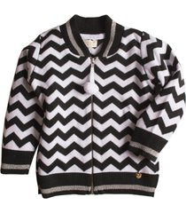 casaco tricô mini lady chevron - kanui