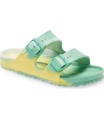 women's birkenstock essentials arizona waterproof slide sandal, size 7-7.5us - green