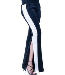 calça 101 resort wear flare com faixa neoprene preto off