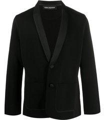neil barrett blazer com abotoamento simples e lapelas xale - preto