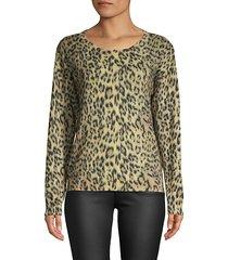 eloisa knit leopard pullover