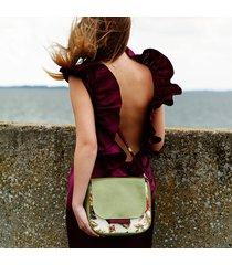 bambi - mała torebka - róże i zieleń